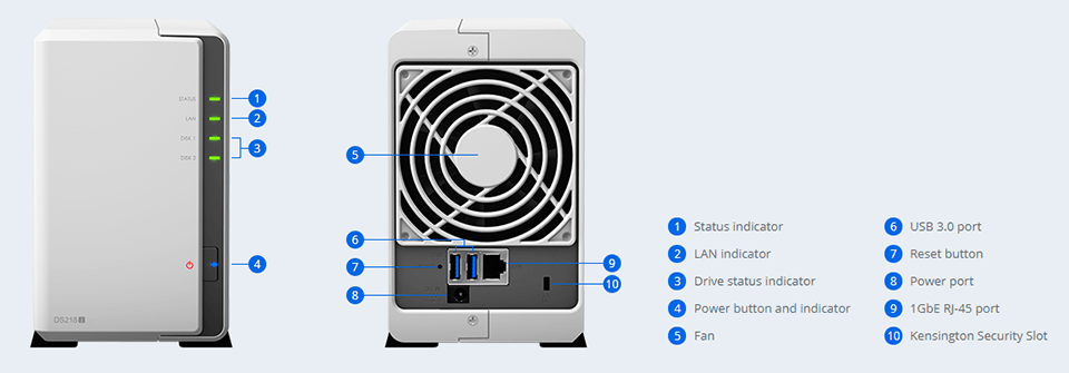 Synology DS218j DiskStation 2-Bay NAS   Connecting Up