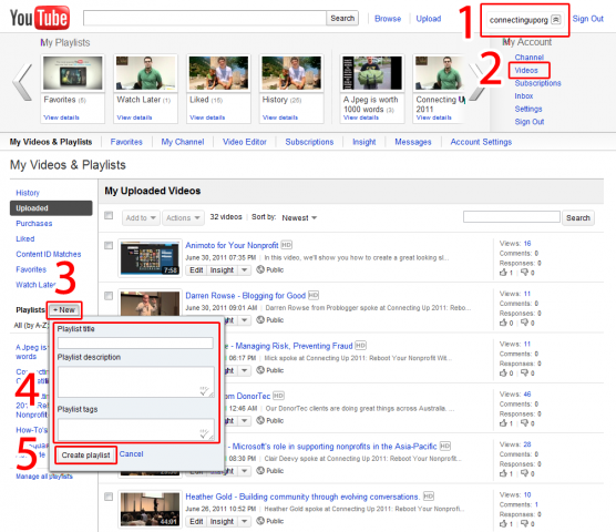 How to Embed a YouTube Playlist into your Website