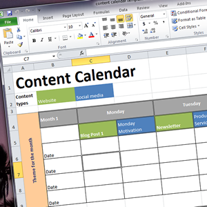 Five steps to creating a content calendar (with template) | Connecting Up