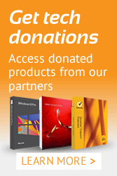 Get donated technology for not-for-profits
